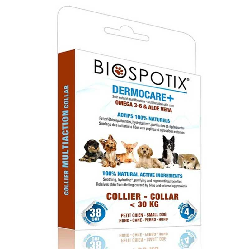 Biospotix Dermocare+ - противопаразитна каишка с етерични масла 38см