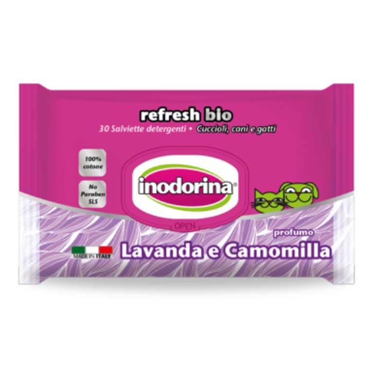 Inodorina Refresh Bio - мокри кърпички с лавандула и лайка 30бр