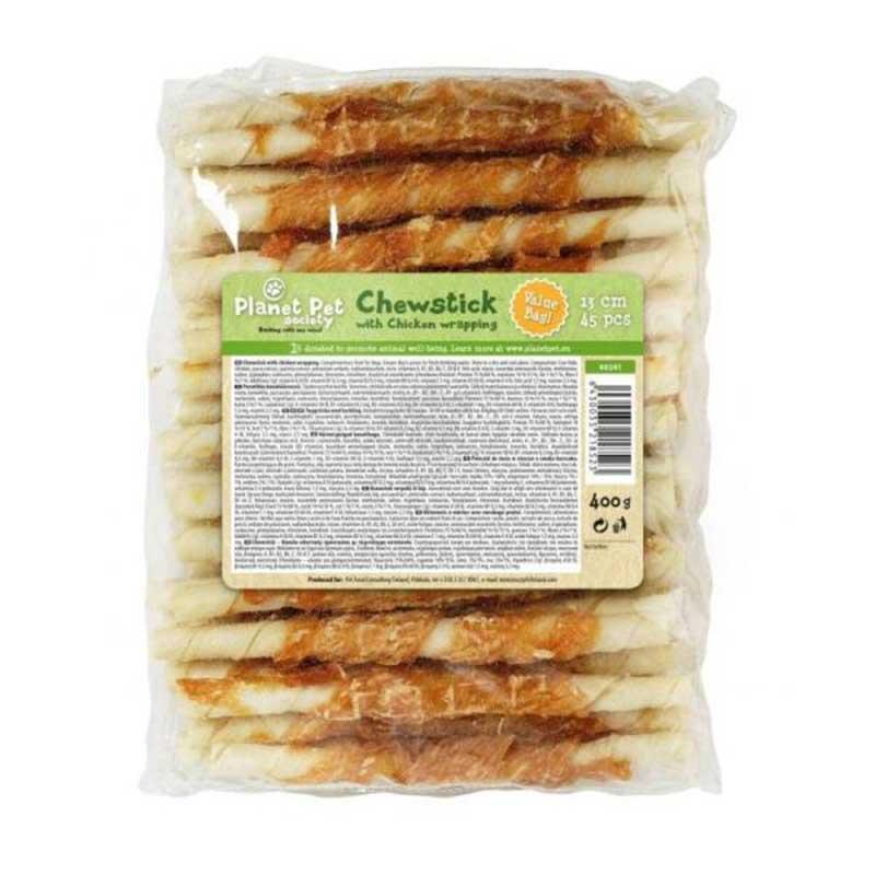 Planet Pet Chewstick with chicken wrapping - деликатесно лакомство с пилешко месо 13см/45бр/400гр