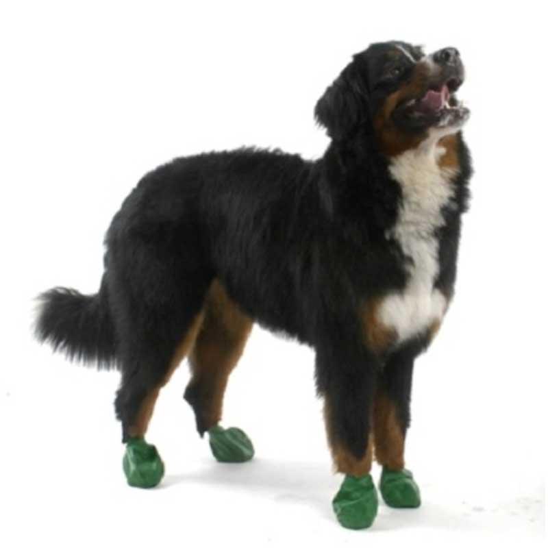 Pawz XLarge Green - каучукова водоустойчива обувка за кучета с дължина на лапата над 10см 1бр