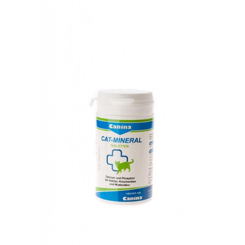 Canina Cat-Mineral Tablets -минерали, микроелементи, калций, фосфор, мая и водорасли 75гр