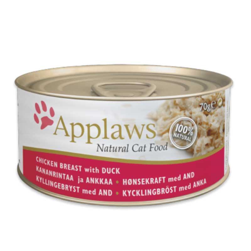 Applaws Chicken with Duck - консерва с пилешко месо и патица в бульон
