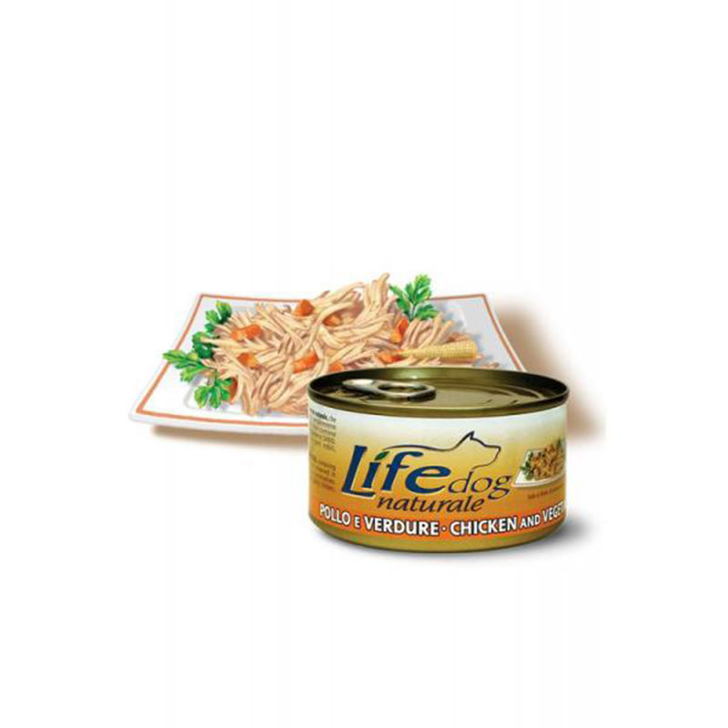 Life Natural Lifedog Chicken and Vegetables - с филенца пилешко месо и зеленчуци 170гр