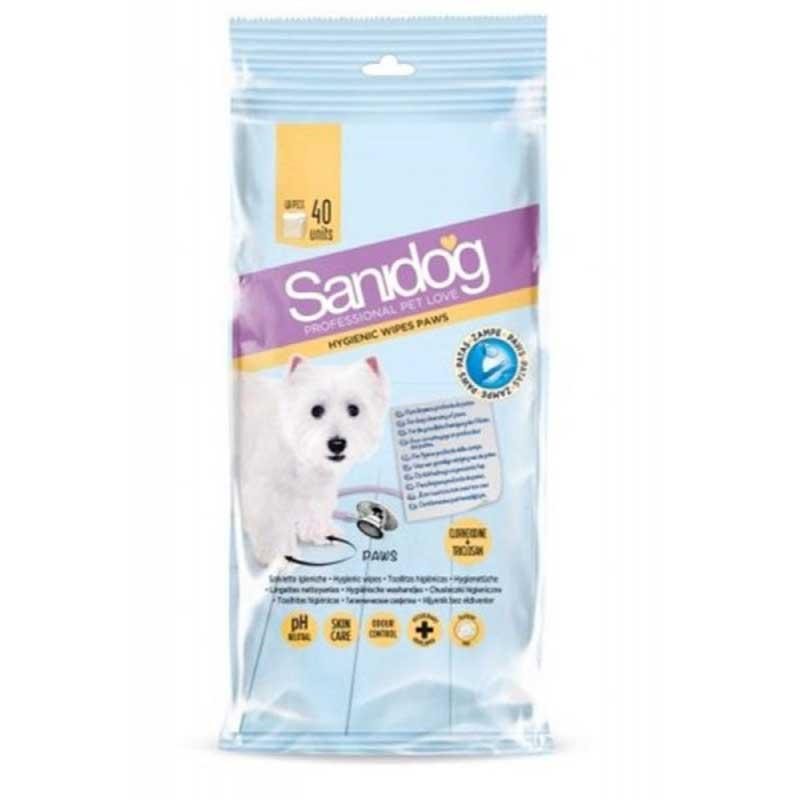 Sanidog Healthy Paws Wipes - мокри кърпички с хлорхексидин 40бр