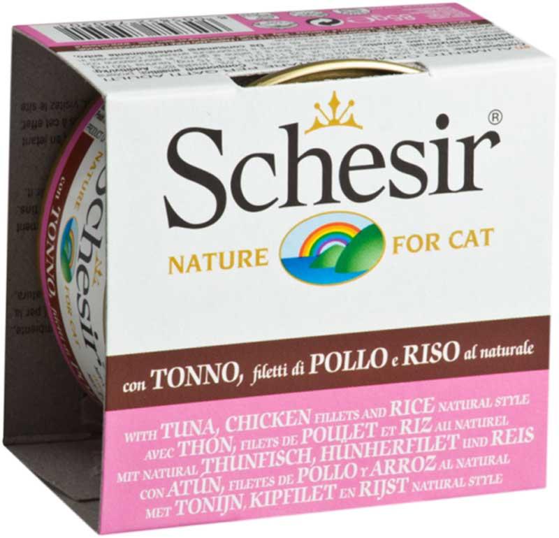Schesir Nature Tuna and Chicken with Rice - риба тон и пиле с ориз 85гр