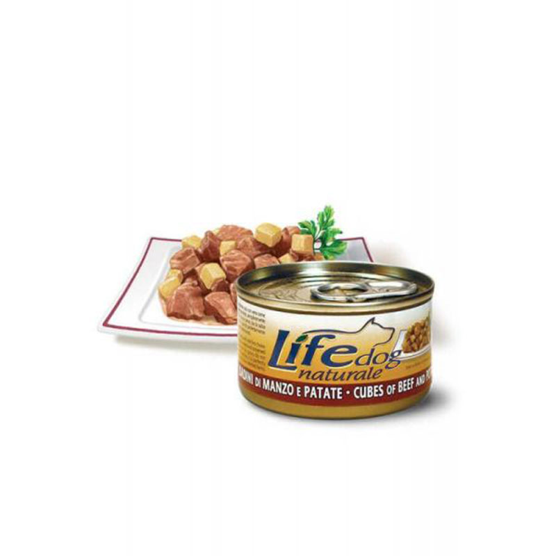 Life Natural Lifedog Cubes of Beef and Potatoes - с говеждо месо и картофи 90гр