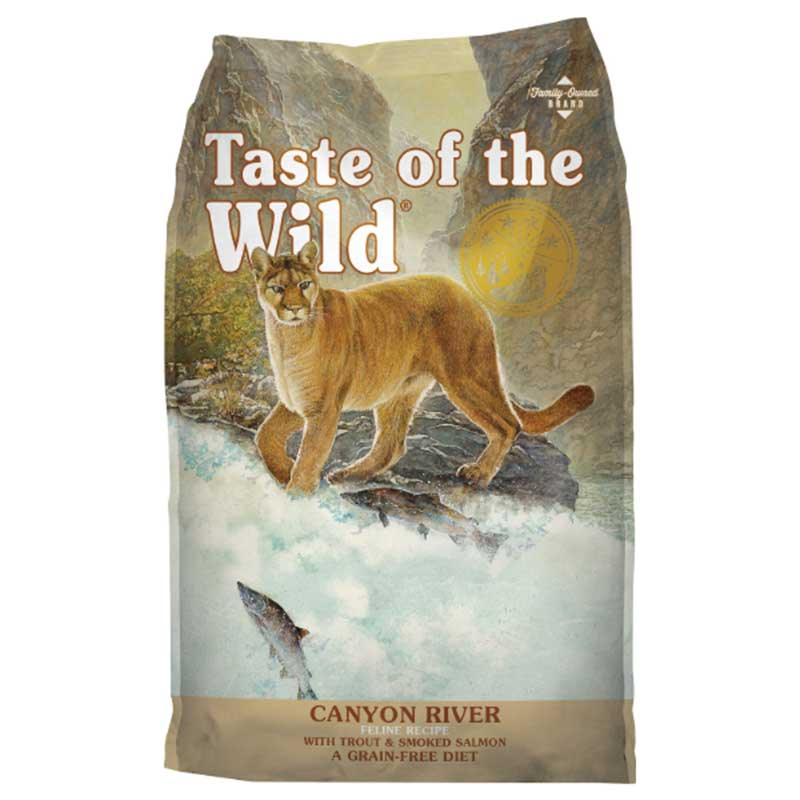 Taste of the Wild Canyon River Feline Formula Trout and Smoked Salmon - котешка храна с пъстърва и пушена сьомга 7кг