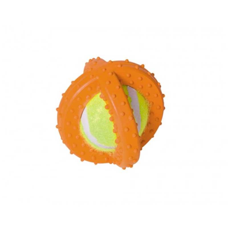 Nobby гумена играчка + тенис топка 7.5см