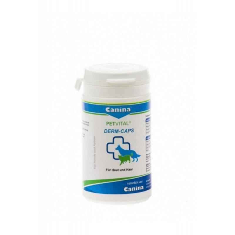 Canina Petvital Derm-Caps - метаболитни, хормонални и алергични проблеми, свързани с кожата и козината, 100 капсули