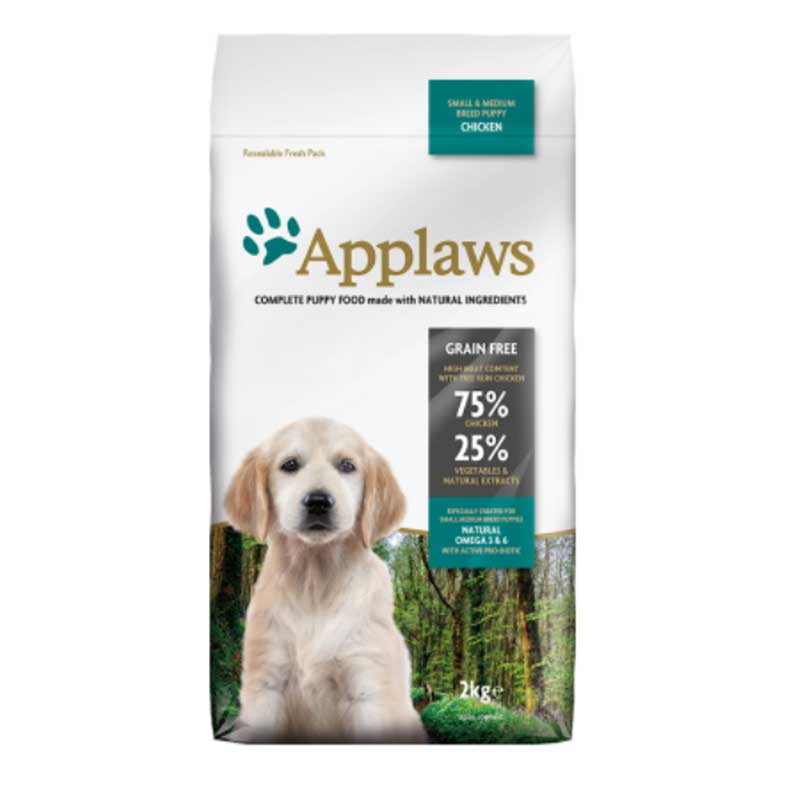 Applaws Puppy Small Medium Breed Chicken - кучешка храна за кучета от 1 до 12 месеца