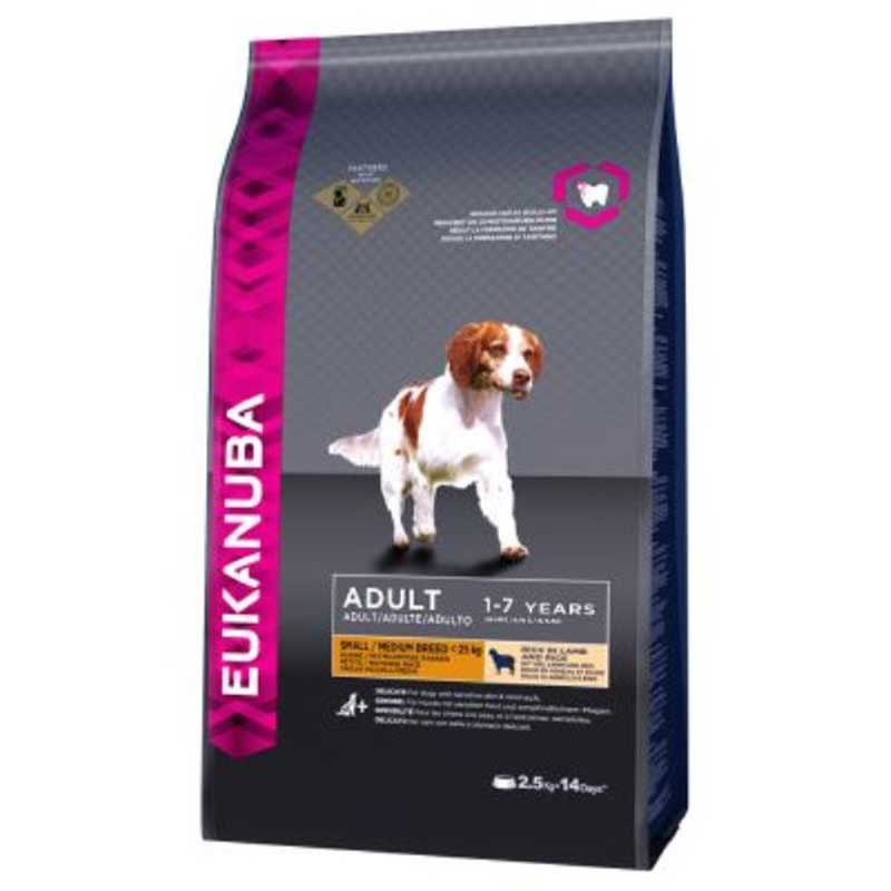 Eukanuba Dog Adult Small & Medium Breed Lamb & Rice - с агнешко месо