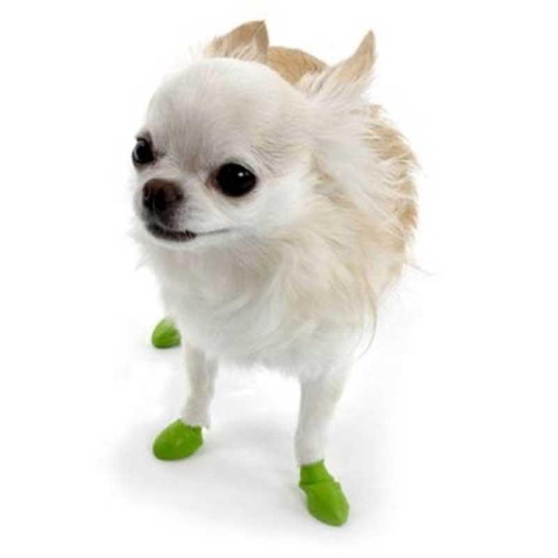 Pawz Tiny Green Apple - каучукова водоустойчива обувка за кучета с дължина на лапата до 2.5см 1бр